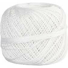 Large Thick Double Mercerized Crochet Cotton Ball Yarn 220yd/200m Fine Thread