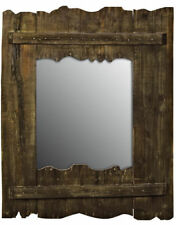 Unbranded Wooden Rustic Decorative Mirrors