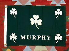 Vintage 50s Murphy Irish Flag Banner Medium Size 20 X 30 Made in USA polyester