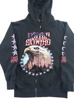 Lynyrd Skynyrd Eagle Black Zip Up Hoodie Sweatshirt Size Small