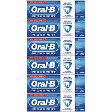 6 Oral-B Pro Expert Healthy White Fluoride Toothpaste Whitening Mint SugarShield
