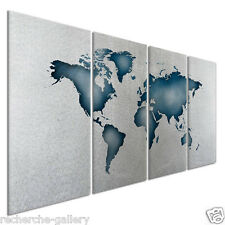 Contemporary Map Metal Wall Decor Painting Abstract Wall Sculpture by Ash Carl