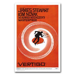 Vertigo Wall Movie Poster Classic Film Art Print Picture Room Decor 24x36 inch
