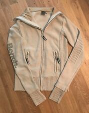 Womens BENCH Zip Up Cardigan Beige Size Small 10-12