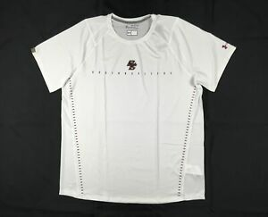 Boston College Eagles Under Armour Short Sleeve Shirt Men's White Poly NEW 3XL