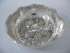 800 Silber Schale mit Obst Verzierung / Dekoschale / Echtsilber / 80,2g
