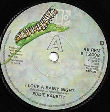 EDDIE RABITT - I LOVE A RAINY NIGHT / SHORT ROAD TO LOVE - 1980 - 80s POP solid