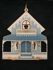 Shelia's Collectibles Ornament - Blue Cottage - #Or001 - Nib