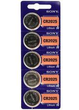 FRESH NEW Stock Lot 5 SONY CR2025 ECR2025 Lithium Battery 3V Exp 2027 Coin Cell