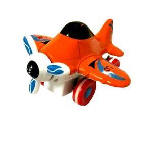 Orange White Metal Plane Diecast Glider Aircraft Toy 10cm Length