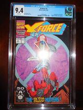 X-Force #2 CGC 9.4 Sep 1991 2nd Appear Deadpool, Weapon X Juggernaut Tom Cassidy