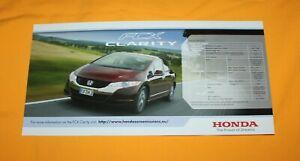 Honda FCX Clarity 2011 Prospekt Brochure Catalog Broschyr Folder Prospetto
