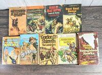 Vintage Western Paperbacks 1950's lot of 9 cowboys, horses +
