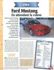 Ford Mustang Coupe Cabriolet Sport V6 1994 USA Car Auto Voiture FICHE FRANCE