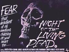 """Noche De Los Muertos Vivos Cartel De La Película Retro De Placa de pared de metal 8"""" X 6"""" Aprox"""