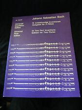 Partition Johann Sebastien Bach 15 Morceaux pour 2 Flûtes
