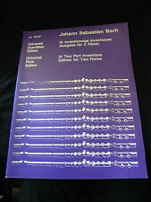 Partition Johann Sebastien Bach 15 Tracks for 2 Flutes