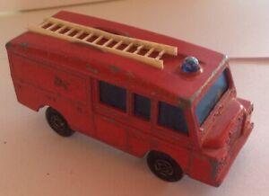 Lesney Matchbox Land Rover Fire Engine Super Fast Vintage England