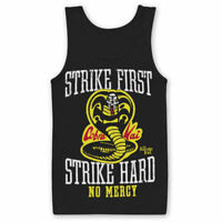 Karate Kid Cobra Kai Strike First No Mercy Official Classic Mens Black Vest