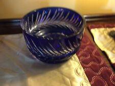 Spectacular Bohemian cobalt blue cut glass bowl.Large.