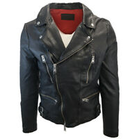 All Saints Men's Black Mazo Biker Leather Jacket (Retail $585)