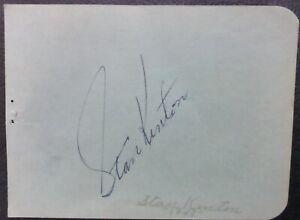 Stan Kenton signed 5-1/2 x 5 cut album page 1945