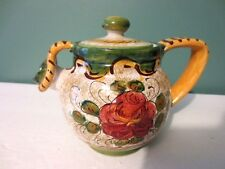 """NEW Fabulous Vintage DERUTA - ITALY Teapot - 4 1/2"""" - Signed - Dated 1981"""