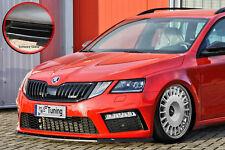Spoilerschwert Frontspoiler ABS Skoda Octavia  RS 5E Facelift ABE schwarz glanz