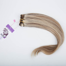 Top Straight Machine Weft 3/4 Half Wig Real Human Hair Various colours120g-200g
