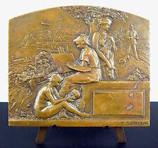 Medaglia la roccia di Monaco Montecarlo Muse dell''arte Tony Szirmai c1910 medal