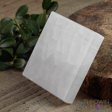 White Selenite Plate - M - Charging Crystal Stone Slab Square E1015