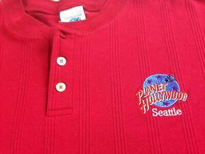 Planet Hollywood Seattle Shirt Mens XL VTG 90s USA Made Washington State Ribbed