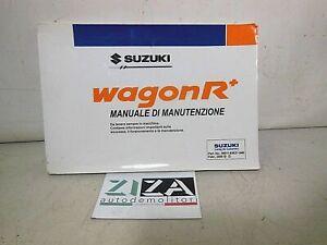 Manuale Manutenzione Italiano Suzuki Wagon R+ 1.3 56kw 2001 99011-83E21-34B