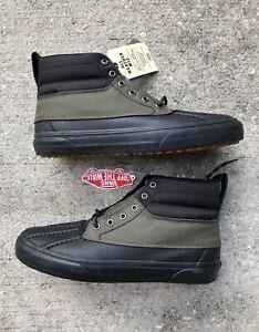 Vans Mens 7 Women's 8.5 Sk8-Hi Del Pato MTE Black Grape Leaf Olive Green Shoes