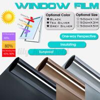 Spiegelfolie Selbstklebend UV Sonnenschutz Folie Fenster Glas   M