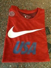 Nike Usa Soccer Men's Athletic T-Shirt Small Red White Blue Nwt Dri-fit Football