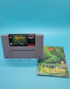 Secret Of Mana SNES w/ Map
