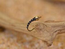 Tungsten Bh Black Zebra Midge Nymph Fly - 1 Doz Flies - Mustad Signature Hooks