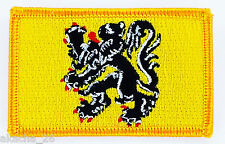 PATCH ECUSSON BRODE DRAPEAU FLANDRES FLAMAND INSIGNE THERMOCOLLANT NEUF FLAG