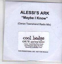 (CQ132) Alessi's Ark, Maybe I Know - 2011 DJ CD