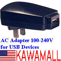 TRAVEL/HOME WALL AC OUTLET USB ADAPTER CHARGER PLUG NU1