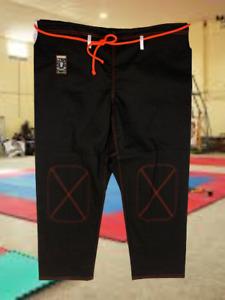 "Century Fuji Brazilian Jiu Jitsu Pants ""spider monkey"" Cotton Black/Red Size A5"