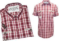 Trachtenhemd Hemd aufwendig verarbeitet 1/2 Arm kariert bestickt Oktoberfest M