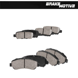Front+Rear Ceramic Brake Pads For 2009 2010 2011 2012 2013 - 2017 Nissan Maxima