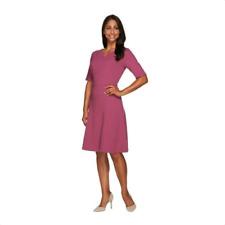 Liz Claiborne New York Knit Ottoman Dress With Elbow Sleeves Size 0 Purple Cloud