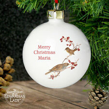 Personalised Country Diary Midwinter Traditional Christmas Tree Bauble