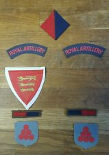 Full Set of Force 135 Jersey reproduction printed badges for Battledress