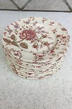 "Johnson Bros. Rose Chintz 6"" Dessert or Bread Plate  England Vintage"