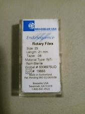 Brasseler Size 25 Length 21mm Taper 06 Endosequence Rotary Files 4pc Pack
