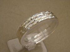 Lady's Bangle Bracelet Set 7 Silver Plated Semanario Aros 3mm Wide 60mm Diameter